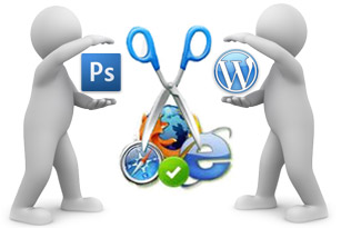 best website conversion of photoshop template to worpress template India